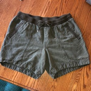 Olive green shorts size 16